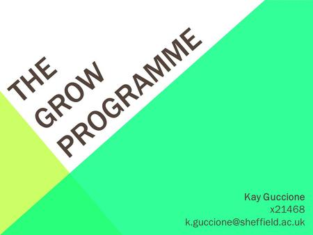 THE GROW PROGRAMME Kay Guccione x21468