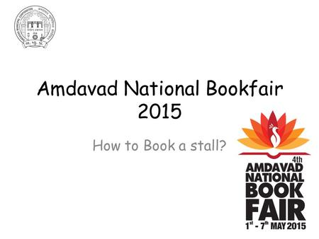 Amdavad National Bookfair 2015 How to Book a stall?