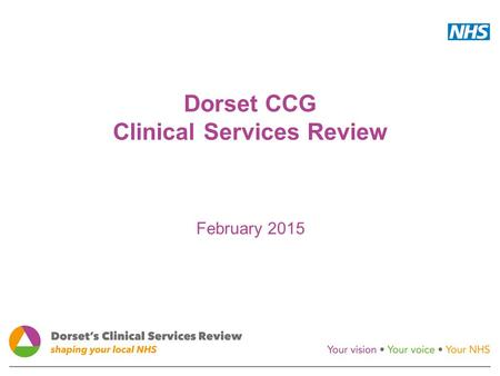 Dorset CCG Clinical Services Review