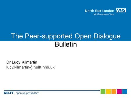 The Peer-supported Open Dialogue Bulletin