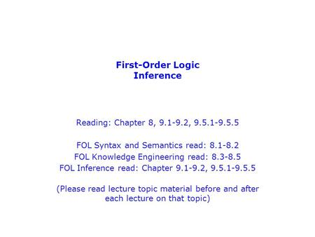 First-Order Logic Inference
