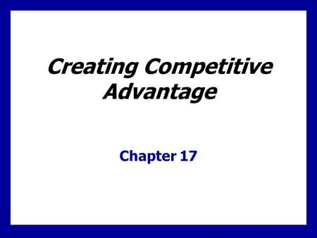Learning Goals Learn how to understand competitors as well as customers via competitor analysis. Understand the fundamentals of competitive marketing strategies.