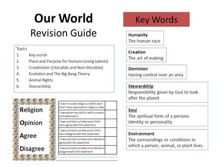 Our <strong>World</strong> Revision Guide