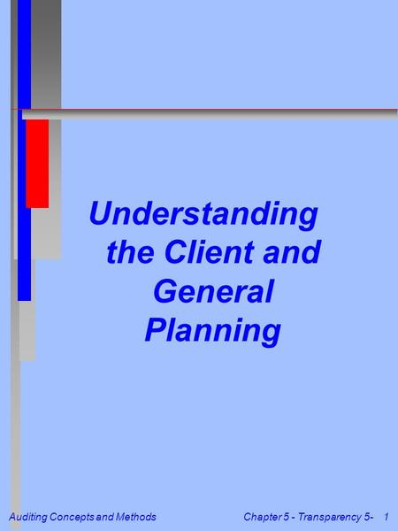 Understanding the Client and General Planning