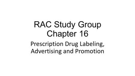 RAC Study Group Chapter 16