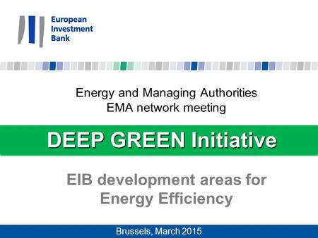 EIB development areas for Energy Efficiency