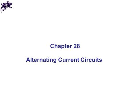 Alternating Current Circuits
