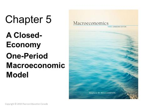 Chapter 5 A Closed- Economy One-Period Macroeconomic Model Copyright © 2010 Pearson Education Canada.