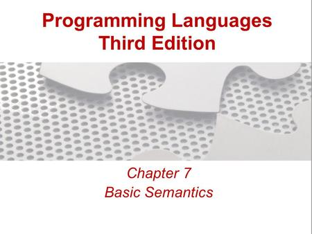 Programming <strong>Languages</strong> Third Edition