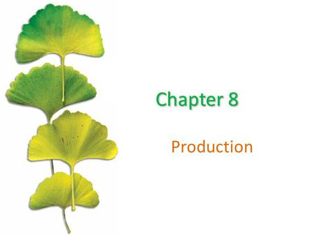 Chapter 8 Production.