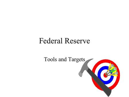 Federal Reserve Tools and Targets. Open Market Operations Types: –Dynamic Designed to change base –Defensive Meant to offset other factors affecting base.