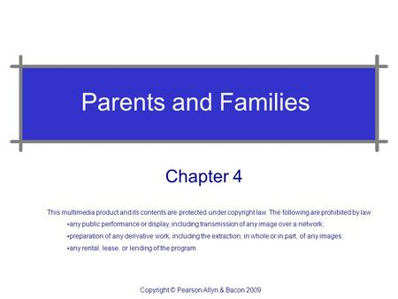 Parents and Families Chapter 4