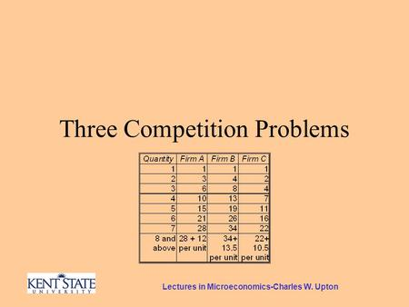 Lectures in Microeconomics-Charles W. Upton Three Competition Problems.
