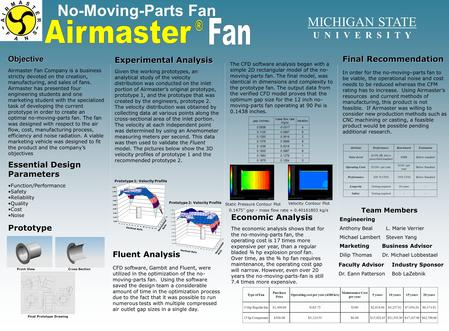 No-Moving-Parts FanObjective Airmaster Fan Company is a