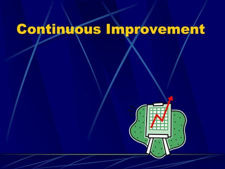 Continuous Improvement. Ideas of CI Continually seeking ways to improve operations Not unique to quality – also applies to other process improvements.
