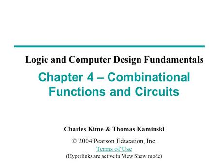 Overview Functions and functional blocks Rudimentary logic functions