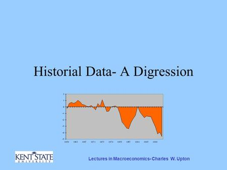 Lectures in Macroeconomics- Charles W. Upton Historial Data- A Digression.