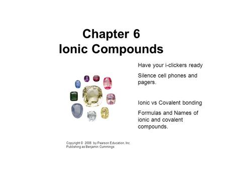 Chapter 6 Ionic Compounds
