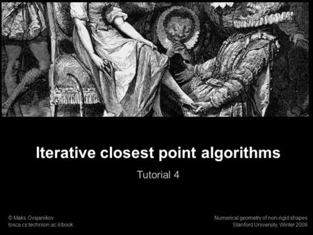Iterative closest point algorithms