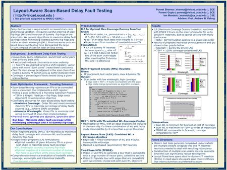 Background: Scan-Based Delay Fault Testing Sequentially apply initialization, launch test vector pairs that differ by 1-bit shift A vector pair induces.