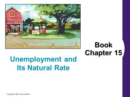 Copyright © 2004 South-Western Book Chapter 15 Unemployment and Its Natural Rate.