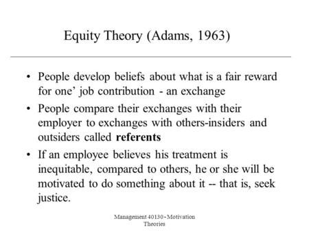 Management Motivation Theories