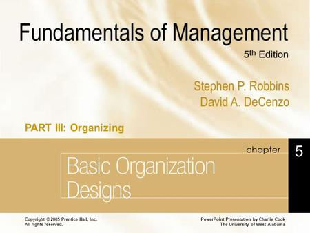 Basic Organization Designs