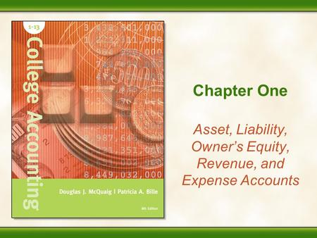 Asset, Liability, Owner's Equity, Revenue, and Expense Accounts