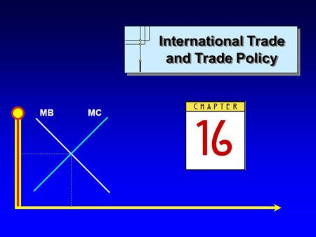 MBMC International Trade and Trade Policy. MBMC Copyright c 2004 by The McGraw-Hill Companies, Inc. All rights reserved. Chapter 16: International Trade.