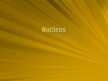 Nucleus. Nuclear Notation  The nucleus consists of protons and neutrons. Protons: Z (atomic number) Neutrons: N Nucleons: A = Z + N (atomic mass) Full.