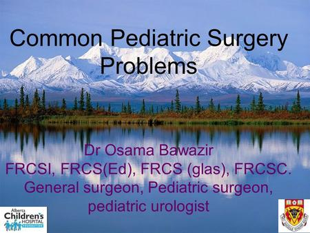 Common Pediatric Surgery Problems