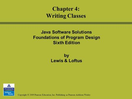 java software solutions 9th edition online