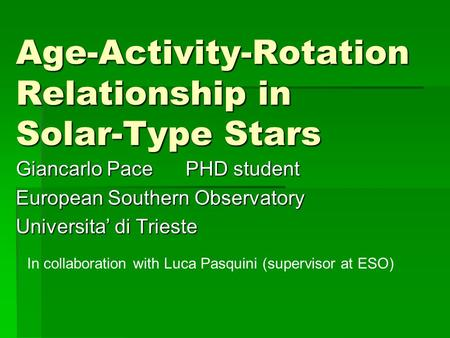 Age-Activity-Rotation Relationship in Solar-Type Stars