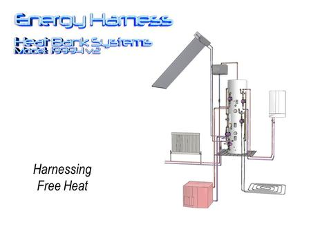Harnessing Free Heat. The Energy Harness provides hot water using multiple heat sources, making the best use of low grade heat. It improves the efficiency.