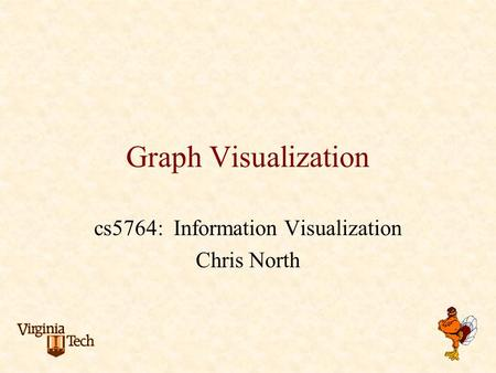 Graph Visualization cs5764: Information Visualization Chris North.