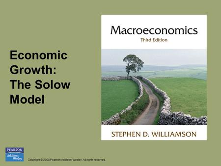 Economic  Growth:   The Solow  Model