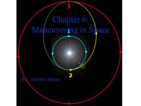 Chapter 6: Maneuvering in Space By: Antonio Batiste.