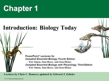 Introduction: Biology Today