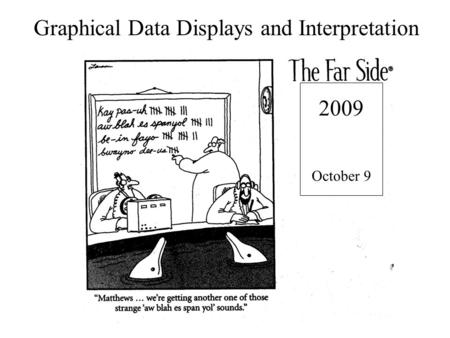 Graphical Data Displays and Interpretation 2009 October 9.