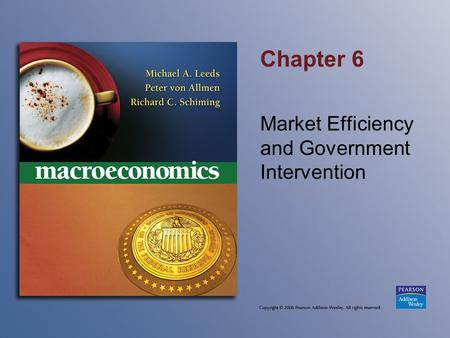 Chapter 6 Market Efficiency and Government Intervention.