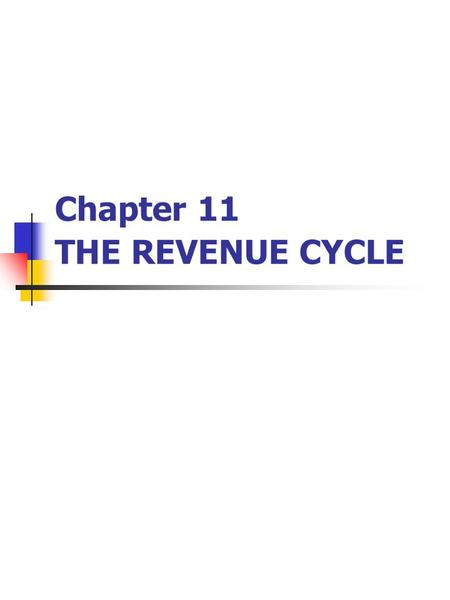 Chapter 11 THE REVENUE CYCLE. Introduction Revenue cycle: 1. Respond to customer inquiries 2. Develop agreements with customers to provide goods and services.