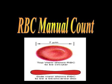 RBC Manual Count.