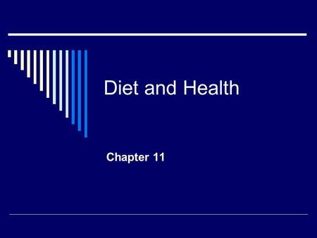 Diet and Health Chapter 11. Cancer Facts  US men have a 1 in 2 lifetime risk  US women have a 1 in 3 lifetime risk  1,220,000 new malignant cancer.