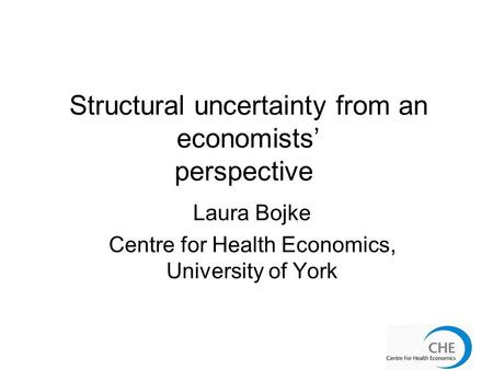 Structural uncertainty from an economists' perspective