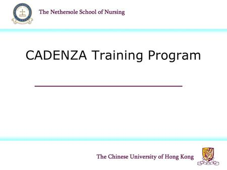 CADENZA Training Program. Background Rapidly aging population: health and social care challenges Elders have diverse and complex needs  cross-cut organizational.