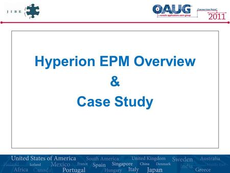 Hyperion EPM Overview & Case Study.