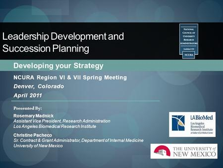 Leadership Development and Succession Planning