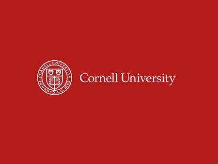 Data Security Issues in IR Eileen Driscoll Institutional Planning and Research Cornell University