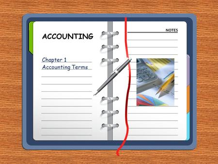 Chapter 1 Accounting Terms