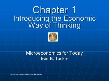 Chapter 1 Introducing the Economic Way of Thinking
